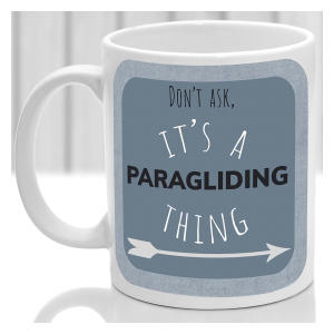 Funny Paragliding Mug