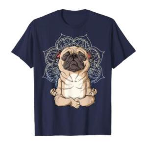 Funny Pug Meditating T Shirt