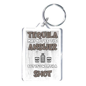 Funny Tequila Key Ring