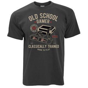 Mens T-Shirt Old School Gamer