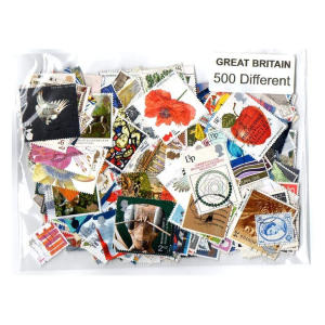 Great Britain 200 Different Stamps