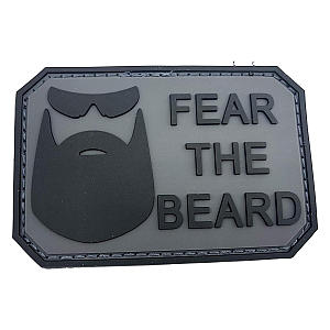 Grey PVC Airsoft Paintball Patch