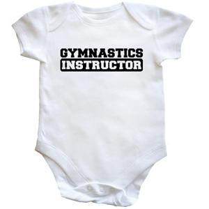 Gymnastics Instructor Baby Vest Bodysuit