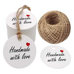 Hand Made with Love Gift Tags