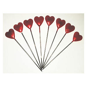 Heart Shaped Florist Bouquet Steel Pins