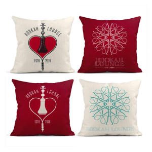 Hookah Set of 4 Cushion Covers