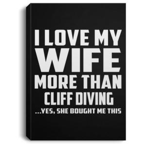 Funny Cliff Diving Canvas