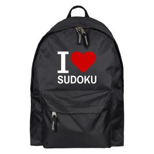 I Love Sudoku Rucksack