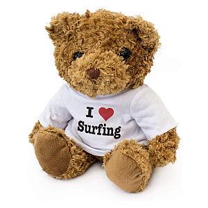 I Love Surfing Teddy Bear