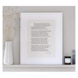 IF by Rudyard Kipling Calligraphy Print