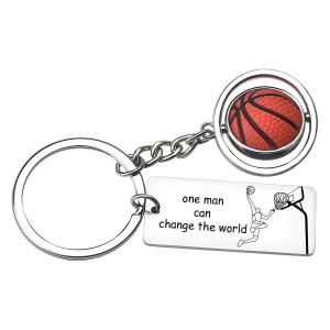 Inspirational Basketball Keyring