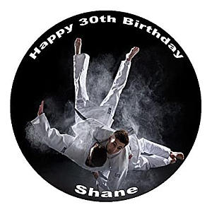 Judo Personalised Icing Cake Topper