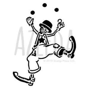 Juggling Clown Wall Stencil