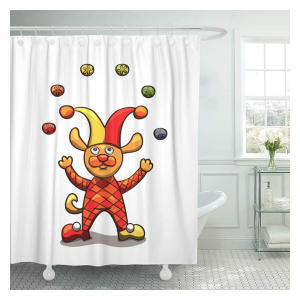 Juggling Dog Shower Curtains