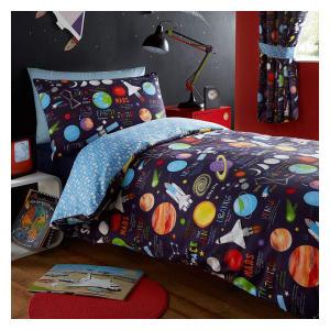 Kids Planets Single Bed Set