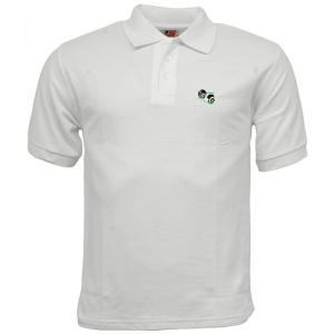 Bowling White Polo Shirt with Logo