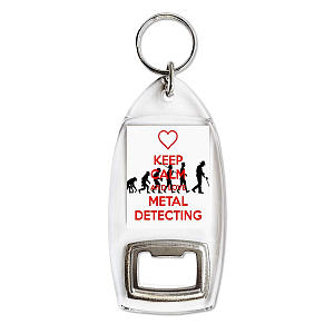 Love Metal Detecting Bottle Opener Keyring