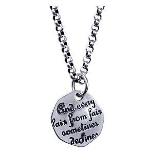 Love Poem Inscription Pendant Necklace