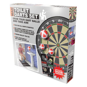 Man Toilet Darts