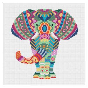 Mandala Elephant Cross Stitch Kit