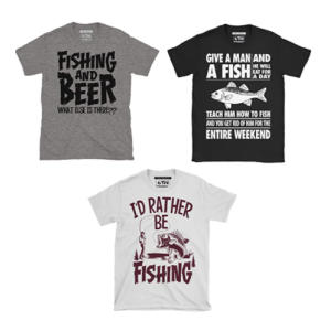 Mens Fishing T Shirt Triple Pack