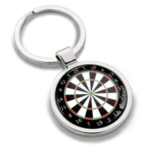 Metal Dart Board Key Ring