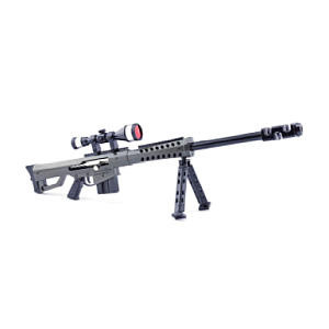 Metal 1/3 Destroyer M82A1 Sniper Rifle Gun Model