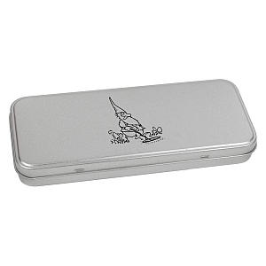 Metal Detector Gnome Stationery Tin