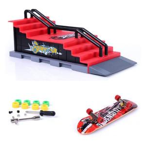 Mini Finger Skateboard and Ramp Accessories Set