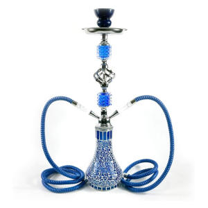 Mosaic Hookah With Two Hoses