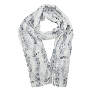 Music Note Print Scarf