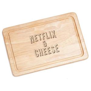Netflix & Cheese Chopping Board