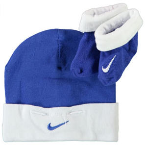 Nike Two Piece Infant Booties & Beanie Set