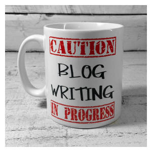 Novelty Blog Writing Mug