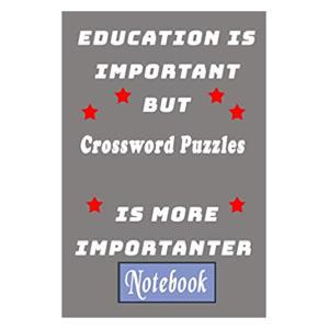 Novelty Crossword Notebook