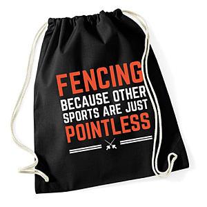 Novelty Fencing Drawstring Bag