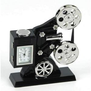 Film Projector Miniature Clock
