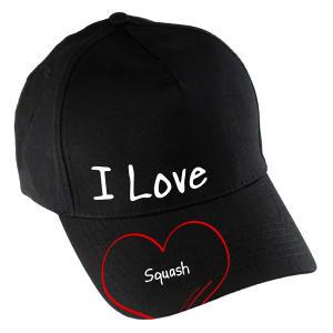 Novelty I Love Squash Baseball Cap