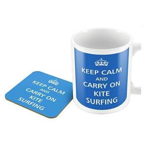 Novelty Kitesurfing Mug and Coaster