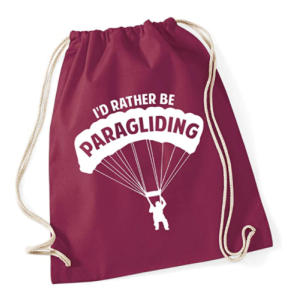 Novelty Paragliding Drawstring Bag