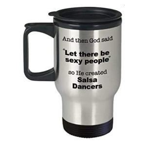 Novelty Salsa Dance Travel Mug