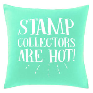 Novelty Stamp Collector Cushion