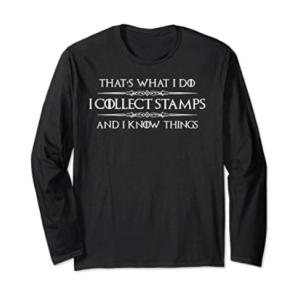 Novelty Stamp Collectors Long Sleeved T Shirt