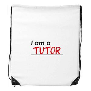 Novelty Tutor Drawstring Bag