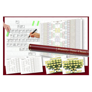 Pack of 6 Family Tree Charts