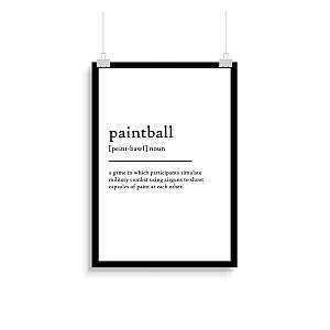 Paintball Definition Print