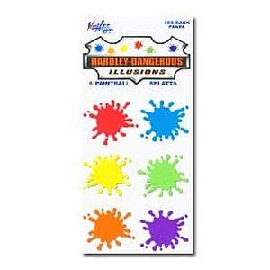 Paintball Splats Sticker Sheet