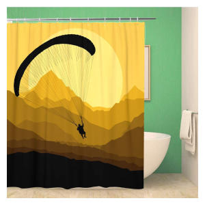 Paragliding Print Shower Curtain