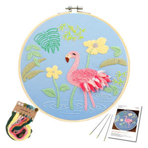 Peacock Pattern Embroidery Starter Kit