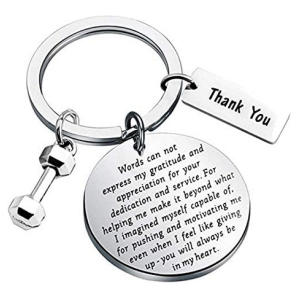 Fitness Instructor Thank You Keyring